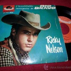 "Discos de vinilo: RICKY NELSON RESTLESS KID/OLD ENOUGH TO LOVE +2 7"" EP POLYDOR 27704 FRANCIA FRANCE RIO BRAVO. Lote 38458302"