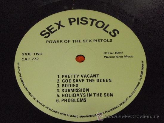 Discos de vinilo: SEX PISTOLS ( POWER OF THE SEX PISTOLS ) ENGLAND-1985 LP33 WARNER BROS MUSIC - Foto 5 - 38459255
