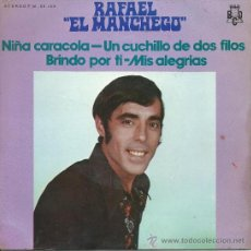 Discos de vinilo: RAFAEL EL MANCHEGO-EP NIÑA CARACOLA +3 -1971. Lote 38459953