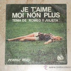 Discos de vinilo: RENNIE MAY- JE T'AIME MOI NON PLUS / TEMA DE ROMEO Y JULIETA / ( C. MARTIN-HENRY AND THE SEVEN) 1970. Lote 38461979