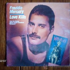 Discos de vinilo: FREDDIE MERCURY ( LOVE KILLS ) + GIORGIO MORODER ( ROTWANG´S PARTY ) . Lote 38478229