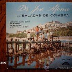 Discos de vinilo: JOSE AFONSO - MENINO DO BAIRRO NEGRO + 3. Lote 38485631