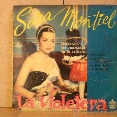 Disques de vinyle: SARA MONTIEL - INTERPRETA CANCIONES DE LA PELICULA LA VIOLETERA - HISPAVOX HH 1753. Lote 38480020