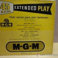 Discos de vinilo: SIETE NOVIAS PARA SIETE HERMANOS. EP M.G.M. AÑOS 50. CALIDAD NORMAL. ***/***. Lote 38481881