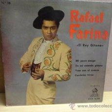 Discos de vinilo: RAFAEL FARINA. MI PERRO AMIGO. EP ODEON 1961. BUENA CALIDAD. ***/***. Lote 38484435