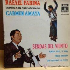 Discos de vinilo: RAFAEL FARINA. SENDAS DEL VIENTO. EP ODEON 1964. CALIDAD NORMAL . ***/***. Lote 38484737