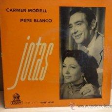 Discos de vinilo: CARMEN MORELL - PEPE BLANCO. JOTAS. EP / ODEON -1958. MUY BUENA CALIDAD. ***/***. Lote 38484804