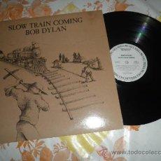 Discos de vinilo: BOB DYLAN - SLOW TRAIN COMING LP - ORIGINAL USA PROMO NOT FOR SALE- LABEL BLANCAS - FUNDA INT.. Lote 38486829