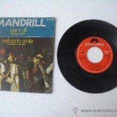 Discos de vinilo: MANDRILL - GET IT ALL - I REFUSE TO SMILE - POLYDOR 1972 SINGLE 45 RPM. . Lote 38592459