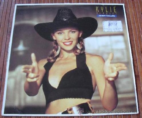 KYLIE MINOGUE - NEVER TOO LATE VINILO MAXI SINGLE 1989 (Música - Discos - Singles Vinilo - Pop - Rock Internacional de los 90 a la actualidad)