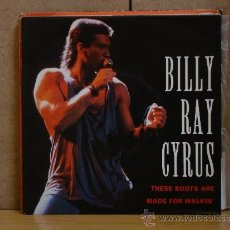 Discos de vinilo: BILLY RAY CYRUS - THESE BOOTS ARE MADE FOR WALKING / AIN'T NO GOODBYE - MERCURY 864 588-7 - 1992. Lote 38484452