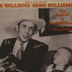 Discos de vinilo: LP-HANK WILLIAMS THE LEGEND OF...SONG AND STORY-MGM 4865-DOBLE-1973-COUNTRY. Lote 38496149