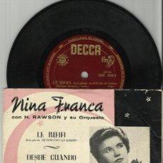 Discos de vinilo: NINA FRANCA EP LE RIFIFI ESPAÑA. Lote 38504891