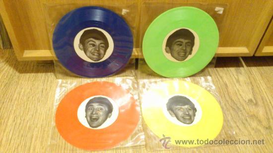THE SAVAGE YOUNG BEATLES WITH TONY SHERIDAN 4 SINGLES EPS DE VINILO GECKO 9 (Música - Discos de Vinilo - EPs - Pop - Rock Internacional de los 50 y 60)