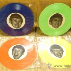 Discos de vinil: THE SAVAGE YOUNG BEATLES WITH TONY SHERIDAN 4 SINGLES EPS DE VINILO GECKO 9. Lote 38506181