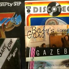 Discos de vinilo: 9 SINGLES: GAZEBO + BABY´S GANG + BABE RUTH + GARY LOW + KOXO + RYAN PARIS + DEN HARROW + VILLAGE PE. Lote 38514235