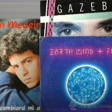 Discos de vinilo: 9 SINGLES: GLENN MEDEIROS + GARY LOW + KING + GEORGE MICHAEL + HAYSI FANTAYZEE + GABEZO +EARTH WIND. Lote 38514346