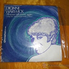 Discos de vinilo: DIONNE WARWICK. I´LL NEVER FALL IN LOVE AGAIN. DISCOPHON 1970. IMPECABLE. Lote 38515449