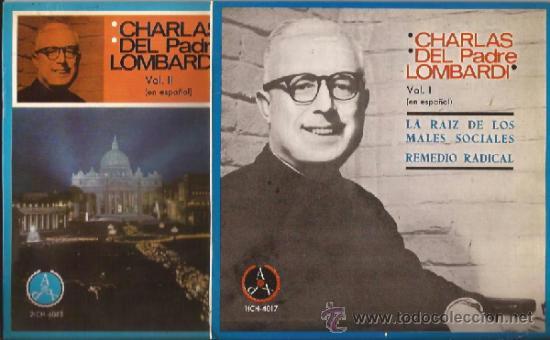SINGLE-CHARLAS DEL PADRE LOMBARDI-VOL 1 Y 2DOS DISCOS-PAX 4017 Y 4018-1965- (Música - Discos - Singles Vinilo - Otros estilos)