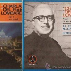 Discos de vinilo: SINGLE-CHARLAS DEL PADRE LOMBARDI-VOL 1 Y 2DOS DISCOS-PAX 4017 Y 4018-1965-. Lote 38533916