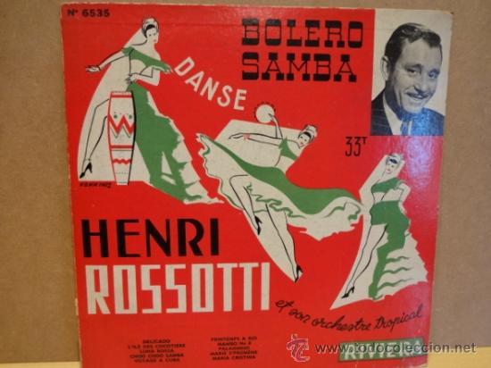 10 PULGADAS. HENRI ROSSOTTI ET SON ORCHESTRE. BOLERO SAMBA. LP RIVIERA AÑOS 50. FRANCE. ***/*** RARO (Música - Discos - LP Vinilo - Orquestas)