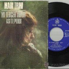 Discos de vinilo: MARI TRINI SINGLE MI TERCER AMOR ESPAÑA 1974. Lote 38572384