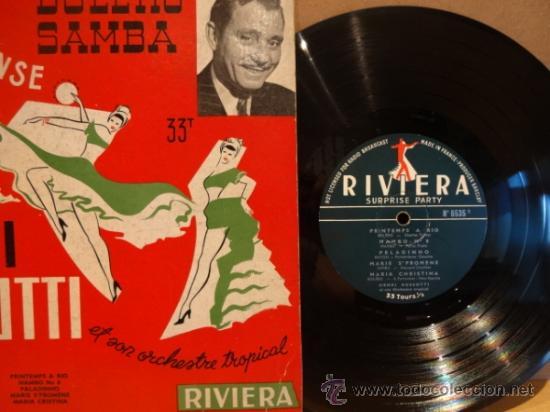 Discos de vinilo: 10 PULGADAS. HENRI ROSSOTTI ET SON ORCHESTRE. BOLERO SAMBA. LP RIVIERA AÑOS 50. FRANCE. ***/*** RARO - Foto 2 - 38569799