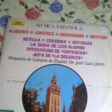 Discos de vinilo: MUSICA ESPAÑOLA. ORQUESTA DE CÁMARA DE MADRID. DIR. JOSÉ LUIS LLORET. C5V. Lote 38574172