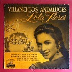 Discos de vinilo: LOLA FLORES - VILLANCICOS ANDALUCES - 1958. Lote 38576844