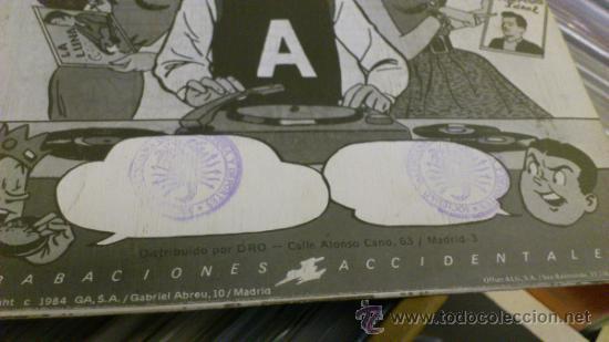Discos de vinilo: Derribos arias Disco Pocho Ep Vinilo de 7 pulgadas Grabaciones accidentales 1984 - Foto 4 - 38578340