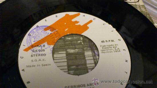 Discos de vinilo: Derribos arias Disco Pocho Ep Vinilo de 7 pulgadas Grabaciones accidentales 1984 - Foto 9 - 38578340