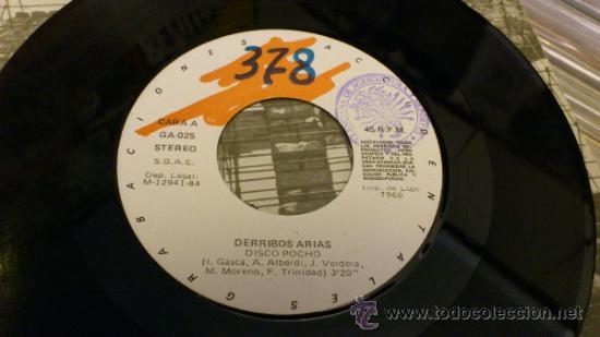 Discos de vinilo: Derribos arias Disco Pocho Ep Vinilo de 7 pulgadas Grabaciones accidentales 1984 - Foto 8 - 38578340