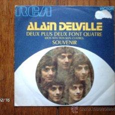 Discos de vinilo: ALAIN DELVILLE - DEUX PLUS DEUX FONT QUATRE + SOUVENIR . Lote 38594961