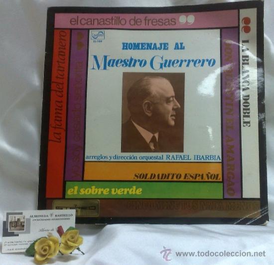 Discos de vinilo: AÑO 1968.-HOMENAJE AL MAESTRO GUERRERO.- ARREGLOS Y DIRECCIÓN ORQUESTAL RAFAEL IBARBIA. - Foto 10 - 38585531