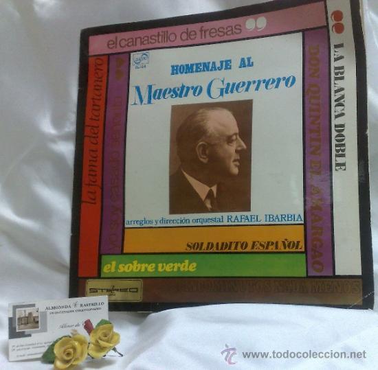 Discos de vinilo: AÑO 1968.-HOMENAJE AL MAESTRO GUERRERO.- ARREGLOS Y DIRECCIÓN ORQUESTAL RAFAEL IBARBIA. - Foto 12 - 38585531