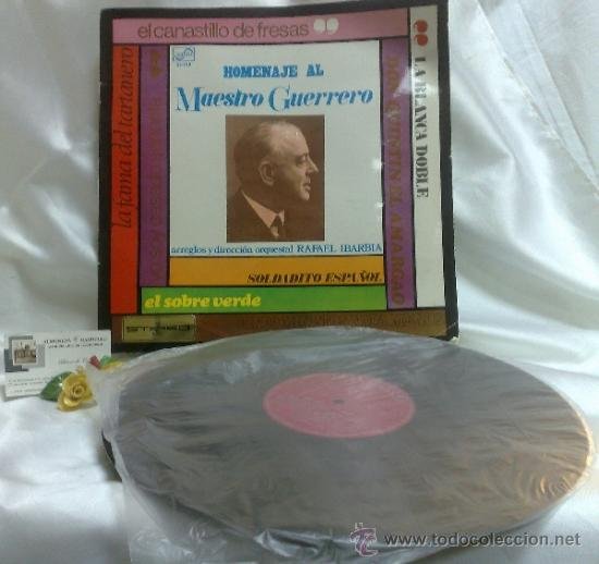 Discos de vinilo: AÑO 1968.-HOMENAJE AL MAESTRO GUERRERO.- ARREGLOS Y DIRECCIÓN ORQUESTAL RAFAEL IBARBIA. - Foto 2 - 38585531
