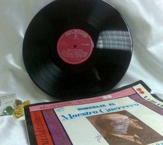 Discos de vinilo: AÑO 1968.-HOMENAJE AL MAESTRO GUERRERO.- ARREGLOS Y DIRECCIÓN ORQUESTAL RAFAEL IBARBIA. - Foto 4 - 38585531
