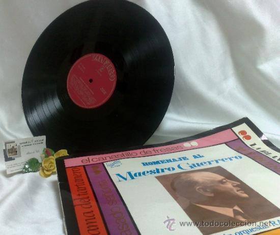 Discos de vinilo: AÑO 1968.-HOMENAJE AL MAESTRO GUERRERO.- ARREGLOS Y DIRECCIÓN ORQUESTAL RAFAEL IBARBIA. - Foto 9 - 38585531