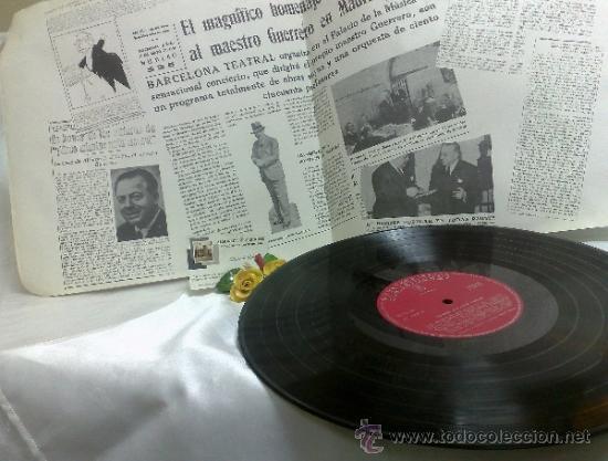 Discos de vinilo: AÑO 1968.-HOMENAJE AL MAESTRO GUERRERO.- ARREGLOS Y DIRECCIÓN ORQUESTAL RAFAEL IBARBIA. - Foto 8 - 38585531