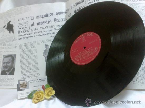 Discos de vinilo: AÑO 1968.-HOMENAJE AL MAESTRO GUERRERO.- ARREGLOS Y DIRECCIÓN ORQUESTAL RAFAEL IBARBIA. - Foto 3 - 38585531