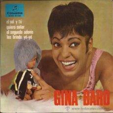 Discos de vinilo: EP-GINA BARO LES BRINDO YE YE-COLUMBIA 81126-1966-TRI CENTER-. Lote 38598777