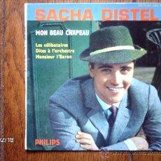 Discos de vinilo: SACHA DISTEL - MON BEAU CHAPEAU + 3. Lote 38617553