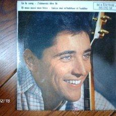 Discos de vinilo: SACHA DISTEL - LA LA SONG + 3. Lote 38634548