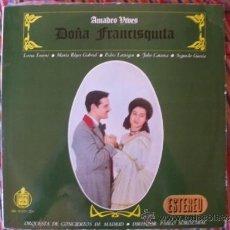 Discos de vinilo: DOÑA FRANCISQUITA AMADEO VIVES DIR.PABLO SOROZABAL HISPAVOX 1963 DOBLE LP. Lote 38616549