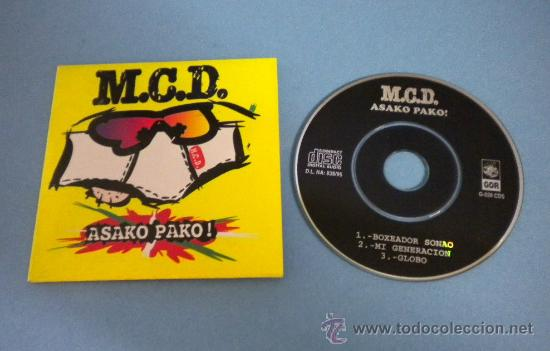 M.C.D. (ASAKO PAKO!) MINI MAXI-CD (3 TEMAS) (Música - Discos de Vinilo - Maxi Singles - Punk - Hard Core)