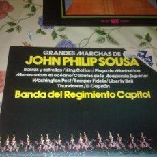 Discos de vinilo: GRANDES MARCHAS DE JOHN PHILIP SOUSA BANDA DEL REGIMIENTO CAPITOL. C4V. Lote 38637381