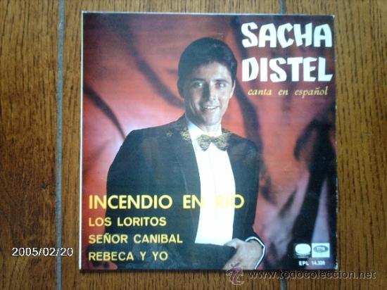 SACHA DISTEL - INCENDIO EN RIO + 3 (Música - Discos de Vinilo - EPs - Canción Francesa e Italiana)