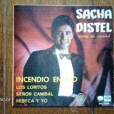 Discos de vinilo: SACHA DISTEL - INCENDIO EN RIO + 3. Lote 38647060