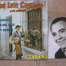 Discos de vinilo: SINGLE JOSE LUIS CAMPOY CON DOBLE AUTOGRAFO (SINGLE + FOTO). Lote 38685876