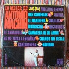 Discos de vinilo: LP LO MEJOR ANTONIO MACHÍN ANGELITOS NEGROS DOS GARDENIAS EL MANISERO. Lote 38652840